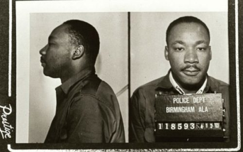 MLK's mugshot, April '63.