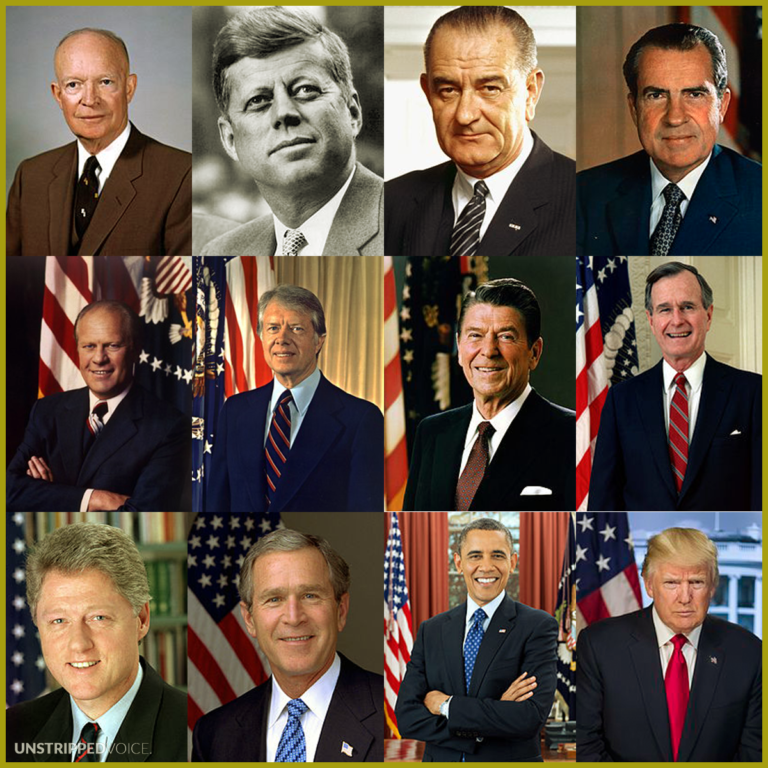 Last 12 US Presidents gold