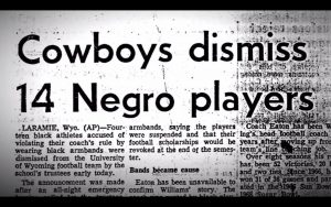 "MUST WATCH: Never forget about ""The Black 14″…college players who were banned for taking a stance…"