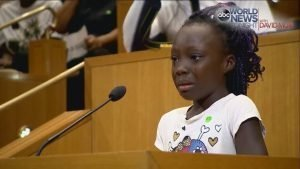 THROWBACK: The time a little girl stood on a podium and cried about POLICE BRUTALITY…