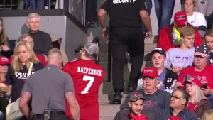 Man with Kaepernick shirt gets removed from Trump rally…