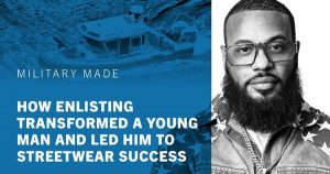 From the military to making streetwear in Oakland (a great success story)…