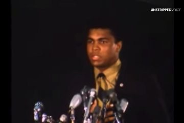 Ali's speech right after Vietnam refusal